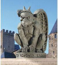 Tall Horns Spiny Claws Menacing Face Muscular Gothic Gargoyle Garden Sculpture