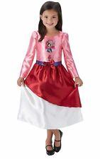Girls Mulan Costume Kids Disney Princess Fancy Dress Fairytale Licensed Dressup