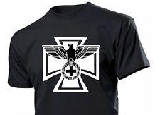 T-Shirt Reichsadler mit Eisernem Kreuz Adler EK EK1 EK2 Gr 3-5XL Eagle w cross 1