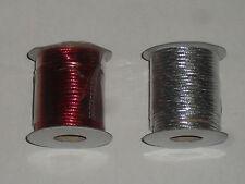 Cordon tissé semi-rigide (largeur:1,5mm, longueur:4m) couleur au choix: