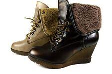 Keilabsatz Damen Boots Warm Herbst Wedge Stiefeletten Stiefel Gr.36-41 A.13A0365