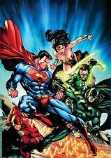 196044 SUPER HEROES SUPERMAN WONDER WOMAN GREEN Wall Print Poster CA