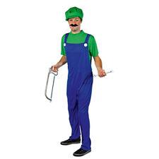 Karnevalskostüm Erwachsene, Superheldenkostüm grün-blau Luigi Kostüm Handwerker
