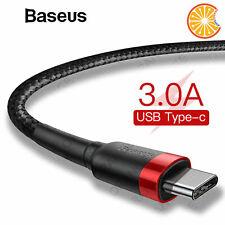 Cavo Usb Type-C corda dati e ricarica veloce 3A Baseus 1m 2m 0,5m samsung 8 9