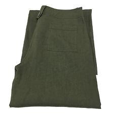 I BLUES pantalone donna verde 100% lino fondo cm 29