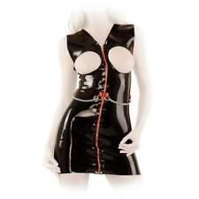 S-Anita Berg - Latex Zip-Minikleid ouvert mit Zierkette in diversen Farben