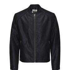 Jack & Jones Mens McNeilson Casual Biker Jacket Black
