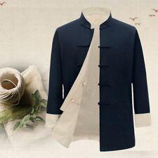 Tang suit Mens Leisure Cotton Linen Retro Ethnic Chinese Reversible Coat Jackets