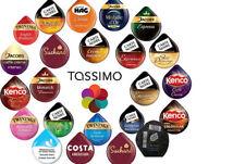 Tassimo Coffee Hot Chocolate Tea Latte Milk Espresso Kenco Costa L'OR 5 Pack Pod