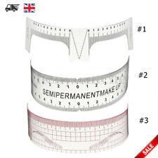 Plantilla de cejas microblading Maquillaje reutilizable Modelador de medición gobernante herramienta del tatuaje