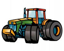 Samunshi Trecker Traktor Aufkleber Sticker Autoaufkleber Scheibenaufkleber