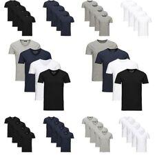 JACK & JONES Herren T-Shirt Basic 4er PACK O-Neck V-Neck Shirt S M L XL XXL