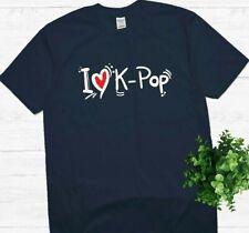 Korean I Love k-pop t shirt, Kpop, CUTE K-Pop Shirt. Korean pop. Perfect gift