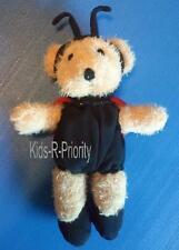 "Rare 9"" Red/Black Lady Bug Ladybug Teddy Bear Plush Stuffed Toy Animal w/ Wings"