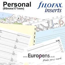 Filofax personnel taille Organiseur papier fentes recharges