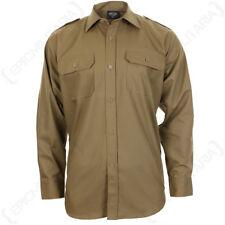 Coyote Ripstop Camisa De Campo - 100% Algodón Militar Ejército Chaqueta Caqui Claro Nuevo