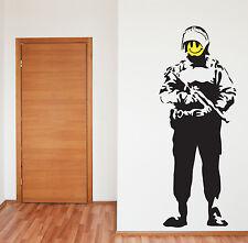 Estilo Banksy Ácido SOLDADO Pegatina Pared Arte