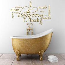 Relax Savon Autocollant Mural Salle de bain CITATION Sticker pochoir wsd386