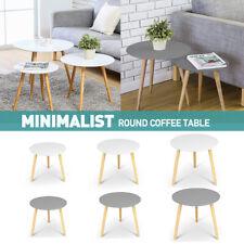 Coffee Table Sets Wooden Side Bedside Round Lamp Scandinavian