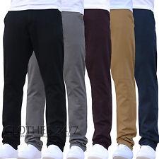 NUOVO ENZO da uomo elasticizzato, Slim chino Pantaloni Jeans tutte le taglie