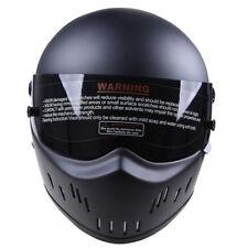 Motorbike Street Helmet Bandit Motorcycle Karting Full Face Fiberglass Black DOT
