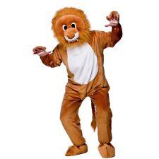 Adult LEO LION Mascot Zoo Jungle Wild Cat Animal Fancy Dress Costume Unisex