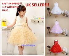 Girls Flower/Bridesmaid/Party/Princess/Prom/Wedding/Christening/Communion Dress