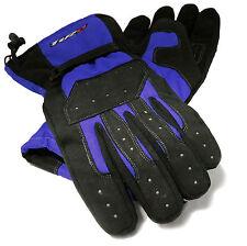 Tuzo Tracker Waterproof All Season Motorcycle Scooter Gloves Black/Blue