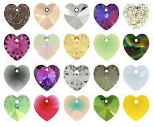 Genuine SWAROVSKI Xilion 6228 cuore cristallo Ciondoli * Più Colori & Tutte le Taglie