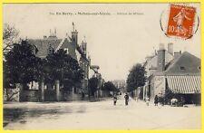 cpa Berry 18 - MEHUN sur YÈVRE (Cher) AVENUE de la GARE Café du Chemin de Fer