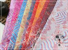 Chinese Japanese Wave Brocade Satin Silky Fabric Dress Clothes Cheongsams Craft