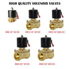 """2 Rutas solenoide  válvula para  agua cerrado 1/2 """" aire latón  3/4 """"12V 240V"""