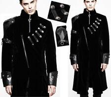 Manteau velours transformable gothique punk militaire galons hiver mode Punkrave