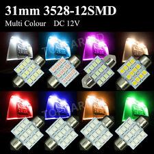 A Lot 3528 31MM 12SMD Festoon Dome Map Interior LED Light Lamp DE3175 3022 3021