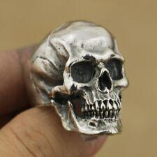 925 Sterling Silver Skull Rings Mens Boys Biker Gothic Ring Punk Jewellery TA50B