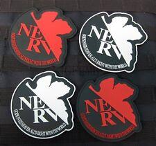 EVA Evangelion NERV Morale Military Tactics 3D PVC Patch Badges