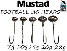 FOOTBALL JIG HEADS 6/0 MUSTAD ULTRA POINT HOOKS.PACK OF 3 .PIKE,PERCH,ZED,BASS .