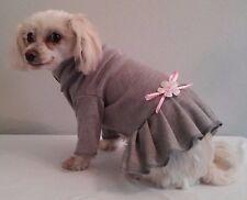 Gray Turtleneck Knit Dress Dog Puppy Teacup Pet Clothes XXXS - Large