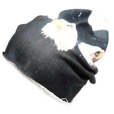 66501 women cuffia unisex OZ COTONE GARZATO  FANTASIA AQUILA cappello