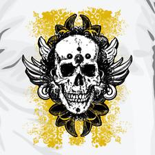 """""""GRUNGE SKULL"""" T-Shirt: Retrò Teschio Cult Vintage Da Uomo/Donna Idea Regalo di compleanno"""