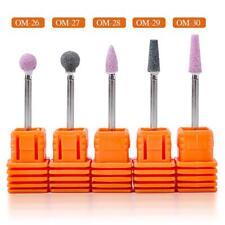 Women Ceramic Stone Polishing Manicure Tools Cuticle Cleaner Nail Drill Bits