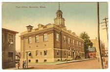1910 Massachusetts Brockton Post Office Street View Vintage Photo Postcard