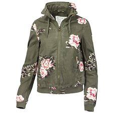 Khujo Damen Übergangsjacke Blouson Bomberjack Allover Flower Print Jacke