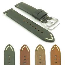 DASSARI Viking Leather Watch Band Strap Strap w Brushed Steel Pre-V Buckle