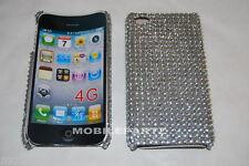 Plata Diamante Diamante cubierta Trasera Para Apple Iphone 4