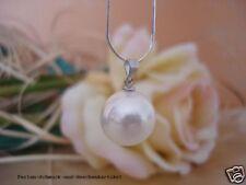 CATENA argento con ciondolo in conchiglia nucleo Perla Bianco 14mm! 925er ARGENTO, REGALO