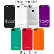 Apple iPhone 5 5S SE PureGear Slim Shell Impact Flexible Silicone Case Cover