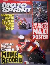 Motosprint 9 1990 Maxi poster Jeff Stanton n.1 Cross Usa. Schwantz con Suzuki