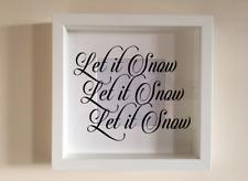 IKEA RIBBA Cornice Di Vinile Personalizzato Wall Art preventivo Let It Neve Natale
