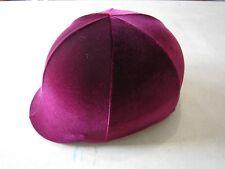 Horse Helmet Cover ALL AUSTRALIAN MADE Burgundy velvet Any size you need